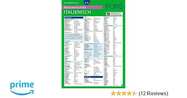 Pons Basiswortschatz Auf Einen Blick Italienisch Kompakte übersicht