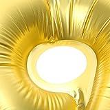 Ballon Gonflable Numéro 0-9 Fête d'Anniversaire 32inch Ballon Papier d'Aluminium Décor Banquet Bal Soirée