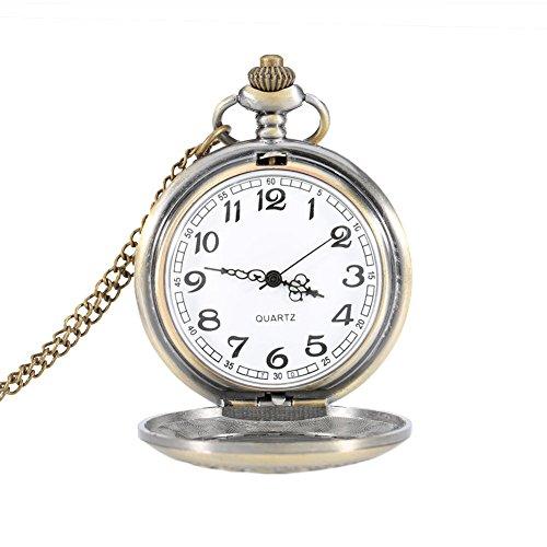 hrph Vintage rund klein Blume Taschenuhr Legierung Anhänger Halskette Kette schlüsselanhänger Uhr Geschenke