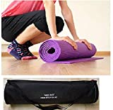 Happytech™ New Design Fitness Non Slip Yoga Mat 6mm Extra Thick and Comfort