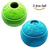 Hundespielzeug Unzerstörbar 2 Stück Ball für Hunde Kauspielzeug 8.1cm Grün + Blau