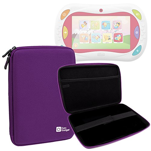 Custodia Rigida Per Chicco 5710 | 00007579200000 | Happy Tab Blocks - Gioco Happy Tablet - Versione 2016 / 2015 / 2014 - Con Tasca Interna Per Accessori - Viola - DURAGADGET
