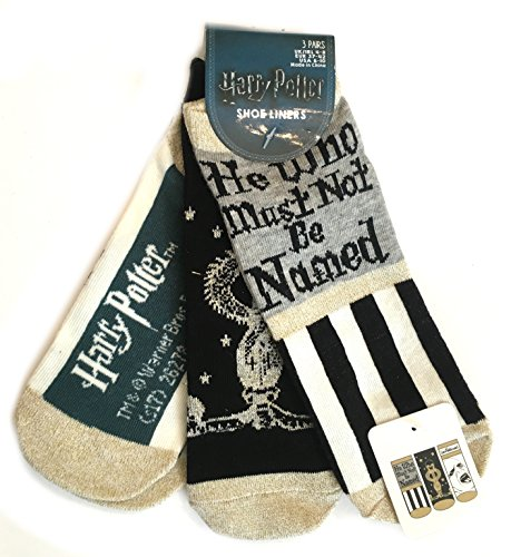 Harry Potter Socks 3 Pair Pack Different Designs Ladies Girls UK Size 4-8 Eur 37-42 USA 6-10