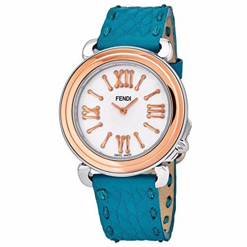 Fendi Women's Selleria 35mm Leather Band Swiss Quartz Watch F8012345H0.SNB3