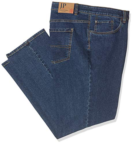 JP 1880 Herren Straight Leg Loose Fit Jeans Jeans klassisch Regular Fit Basic U, Blau (Stonewashed 91), W46/L32 (Herstellergröße: 30) -