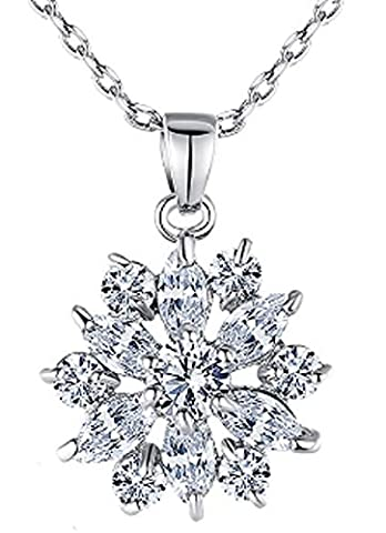 SaySure- 18K White Gold Plated Necklaces Pendants