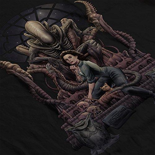 Alien Alternative Ending Ripley Chained Women's Hooded Sweatshirt Black