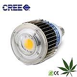 yxo yuxinou Pflanzenlampen Pflanzenlampe 100W CREE LED Vollspektrum Grow Light Wachstumslampe mit CREE LEDs, Pflanzenleuchte Pflanzenlicht kompatibel mit Standard E26/E27 Buchsen (E27 CXB3590 100W)