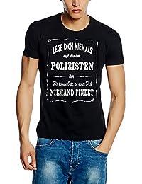 Polizei Sweatshirt mit Kapuze Hoodie - Lege Dich niemals mit einem Polizisten an ! Wir kennen Orte, an denen Dich niemand findet ! S M L XL 2XL 3XL 4XL 5XL