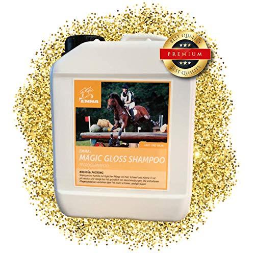 EMMA ♥ Pferdeshampoo I Sparset I Pferdepflege I Fellpflege I Shampoo für Pferde & Hunde I Kamille & Proteinen I mild, ph-neutral I Reinigung von Schmutz und Staub 2500 ml