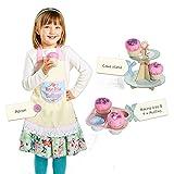 7tlg. Kinder Kuchenback Spielset Backset Kinderbackset Etagere Kinderküche Spielküche