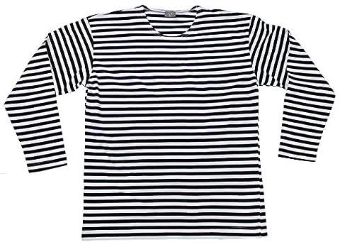 chemise marine, russe, manches longues, ete, Couleur:blau-weiß;Taille:XL