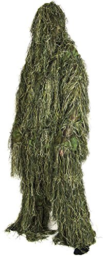 Nitehawk - Ghillie-Anzug/Tarnanzug für Erwachsene - Militärbedarf - Woodland - Tarnfleck Grün - XL/XXL
