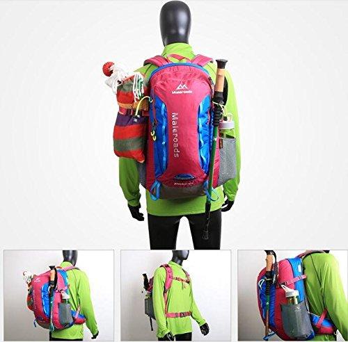 Outdoor-Bergsteigen Sporttasche Rucksack wandern outdoor Outdoor-Rucksack Taschen für Männer und Frauen 40L rose red