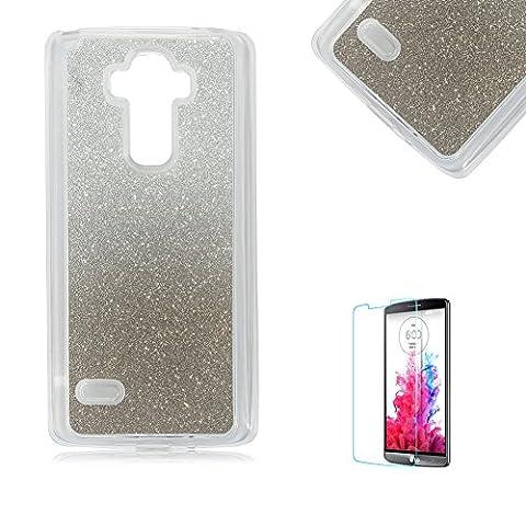Für LG G Stylo/Für LG G4 Stylus LS770 Ultra Dünn Silikon Tasche,Für LG G Stylo/Für LG G4 Stylus LS770 Bling Glitter Schutz Hülle,Funyye Luxus [Schwarz Gradient Farbe] Sparkles Glänzend Glitzer Silikon Crystal Case Durchsichtig Soft Rückseite Cover Shinning Back Cover Kratzfeste Hülle Etui Für LG G Stylo/Für LG G4 Stylus LS770 + 1 x Frei Displayschutzfolie