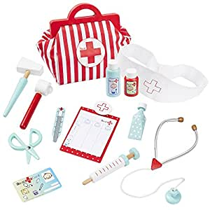 howa Kinderarztkoffer mit 13 tlg. Inhalt aus Holz 4872