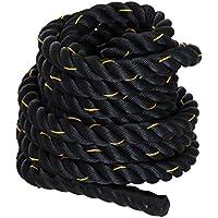 HOMCOM Cuerda de Batalla Battle Rope Formación Battling Power Cuerda Ejercicio Fitness Deporte Crossfit Ф38mm Longitud 12m Poliéster Ultra Resistente