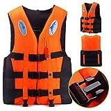 Sportstorm Schwimmweste für Erwachsene Kinder Frauen Männer PFD - Schnorchel Weste Schwimmweste Schwimmhilfe Wassersport Schwimmen Bootfahren Kajak + Whistle(XS: 10-25kg Orange)