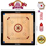 #6: Fabulous Full Size(Large) 32' Inches Round Pocket Carrom Board with Coins, Striker