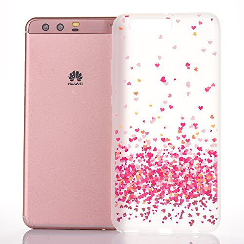 Huawei P10 Plus Custodia, Huawei P10 Plus Cover, JAWSEU Creativo Disegno Antiurto Shock-Absorption Posteriore Corpeture Case Custodia per Huawei P10 ...