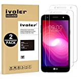 [Lot de 2] LG X Power 2 Protection écran, iVoler Film Protection d'écran en Verre Trempé Glass Screen Protector Vitre Tempered pour LG X Power 2 - Dureté 9H, Ultra-mince 0.20 mm, 2.5D Bords Arrondis- Anti-rayure, Anti-traces de Doigts,Haute-réponse, Haute transparence- Garantie de Remplacement de 18 Mois