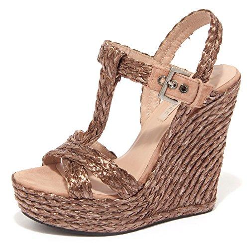 8864P sandalo zeppa PURA LOPEZ bronzo scarpa donna sandal woman [40]