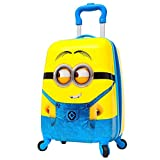 #2: Children High Quality Minion Pattern Hard Side Water Proof Polycarbonate 360 A^ Rotating Exclusive Printed Pattern Fashionable Smart School Bag For Kids Comfortable And Ergonomic Handle Carry Luggage Bag For Children 4 Single Spinner Wheel trolley Bag For Boy Girls For Travel Tourist Cabin Luggage's Bag