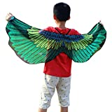 JMETRIC Klassisch 7 Farben Chiffon Schmetterling Schal Mädchen Jungen Fasching Kostüme Kostüme Butterfly Flügel(Grün)