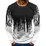 Best FACE N FACE White Blouses - DIKEWANG Men's Gradient Long-Sleeve Beefy Muscle Basic Solid Review