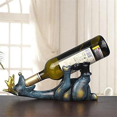 Wmshpeds Im europäischen Stil Wohnzimmer Dekoration Wine Rack, Harz Kunsthandwerk home Dekorationen, kreative elk Red Wine Rack