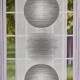 Gardine Paneele Meterware Scherli große Kreise Creme Taupe braun 60cm Breite