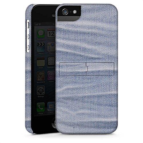 Apple iPhone 6 Housse Étui Silicone Coque Protection Jeans Style tissu Fashion CasStandup blanc