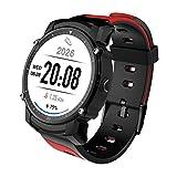 OOZIMO Smartwatch Sport Fitness Tracker mit Pulsmesser GPS Kompass Höhenmesser Schrittzähler Für Frauen und Männer