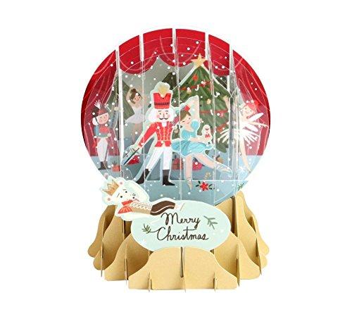 Pop Up 3D Weihnachten Schneekugel Grußkarte PopShot Nußknacker 9x13cm