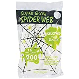 Super Glow Stretchy White Spider Web Halloween Decoration Stretches Up To 200 Square Feet!