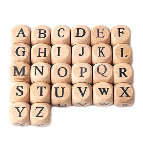 he Brief Perlen Baby Zahnen Kaubare Quadratische Perlen 100pc 12mm Handgemachter Schmuck Zubehör Baby Dusche Geschenke DIY Perlen Machen Montessori Toys ()