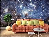 YUANLINGWEI Benutzerdefinierte Wandbild Tapete Kreative Romantische Sternenhimmel Muster Wohnen Zimmer Wand Dekoration Wandbild Tapete,150Cm (H) X 230Cm (W)