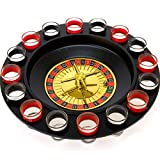 NOROC Drinking Roulette Shot Glass Game Set with 2 Metal Balls & 16 Numbered Shot Glasses