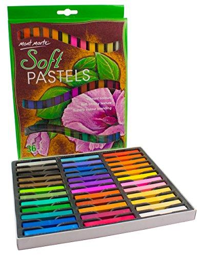 MONT MARTE weiches Pastell Set - 36 Stück Pastellfarben, Pastellkreide, Softpastellkreide, Pastell - Ideal für bunte und ausdrucksstarke Malerei (Pastell-malerei)