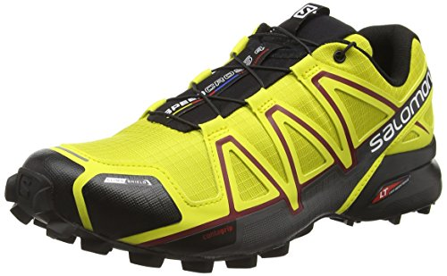 Salomon Speedcross 4 Cs, Scarpe da Trail Running Uomo, Giallo (Alpha Yellow/Corona Yellow/Black), 41 1/3 EU