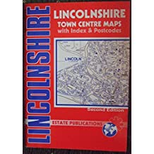 Lincolnshire: Town Centre Maps With Index And Postcodes (County Red Book)