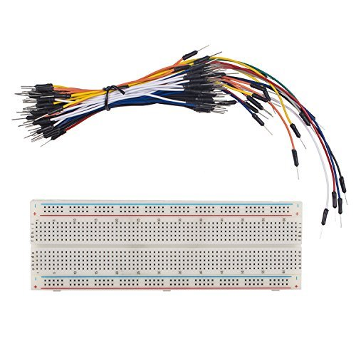 65 Cinch Component (SunFounder Solderless Breadboard Prototype PCB Board MB102 830 Tie-Points + Male to Male Jumper Wires Flexible 65pcs)
