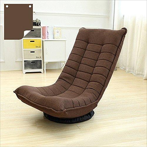 Xiaoyan sedia pigra moderna semplice pieghevole girevole confortevole traspirante casual panno arte camera da letto schienale sedia divano piano sedia (colore : brown)