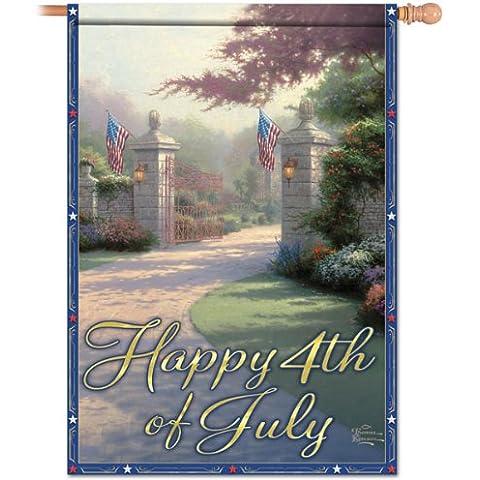 Artistic: Happy 4th de julio de la bandera de Thomas Kinkade Por la Colección de Hamilton