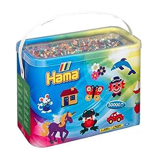 Hama - 208-67 - Loisirs Créatifs - Baril 30000 Perles à Repasser - Taille Midi - Mixte