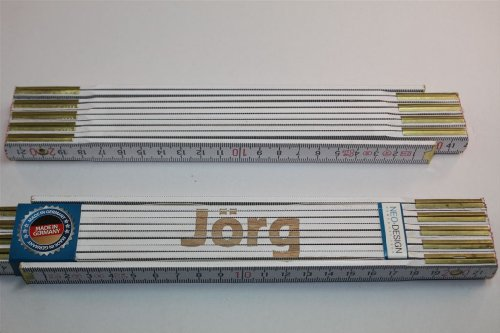 Preisvergleich Produktbild Zollstock mit Namen JÖRG Lasergravur