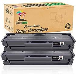 Palmtree Compatible Cartucho de tóner Samsung MLT-D111S Para Samsung Xpress M2022 M2022W M2020W M2020 M2070 M2070W M2070FW M2026 M2026W, 2 Negro