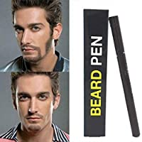 Beard Pen Barba Camuflaje rápido Cultivador de cabello natural Barba Lápiz para hombres (Dark Brown)