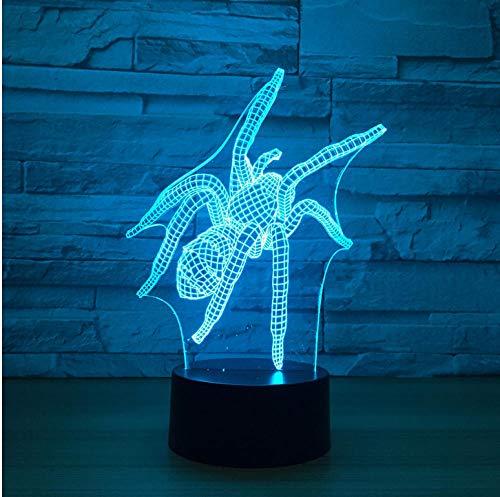 Spider Nordic Home 3D Lampe Stereo Vision Led Geschenk Led Nachtlicht Weihnachtsdekor Babyzimmer 3D Licht Touch Schalter - Auto Stereo-spider