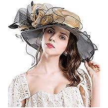 Zonsaoja La Mujer del Kentucky Derby Sombrero Sombreros De Plumas Vestido  De La Iglesia Sol De a91dcfa735b